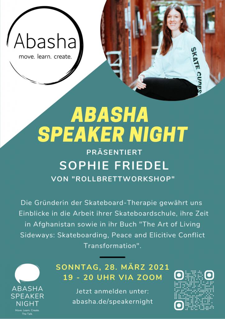 Abasha Speaker Night mit Sophie Friedel